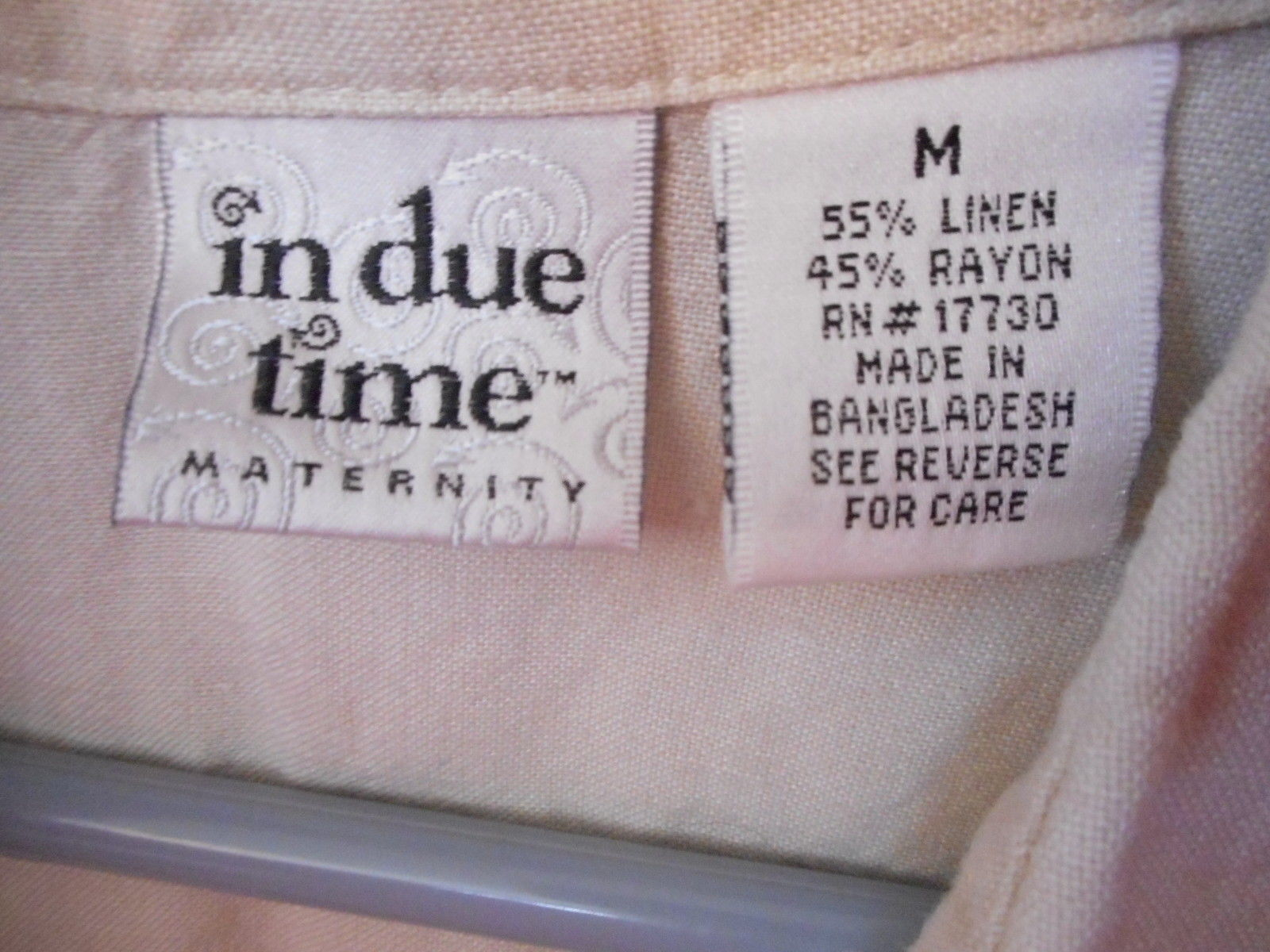 Maternity Button front tie back top natural Linen by In due time cap sleeve