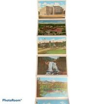 Vintage Linen Fold Out Souvenir Postcards Colorado Pikes Peak Region - $1.99