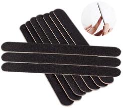 Hot Sale 10 Pcs/Set Nail Files Black Sandpaper Washable Double Sided Nai... - $13.43