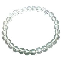 Natural Quartz Crystal Round Beads Hand Bracelet 8 mm size  - $12.00