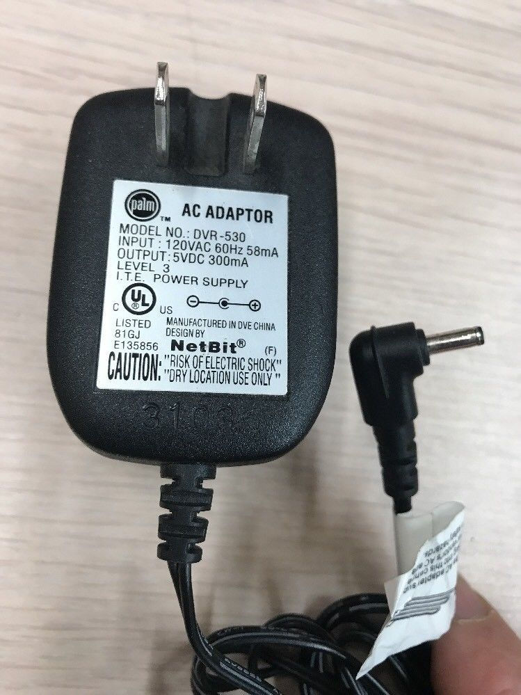 PALM DVR-530 AC Power Supply Adapter Adaptor Charger Output: 5VDC 300mA       H6