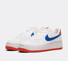 Nike Air Force 1 '07 LV8 Tape Trainer | White / Game Royal / Red Shoes image 2