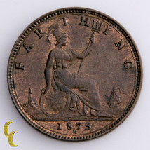 1875-H Great Britain Farthing Coin in UNC, KM# 753 - $147.78