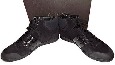 8ff7318c558  660 Gucci Black High Top Phantom Sneakers Shoe 40.5- 10 Flat Shoe