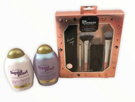 NEW OGX Liquid Pearl Shampoo Conditioner Real Techniques Makeup Brush Gi... - $27.71