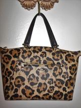 NICE COACH 36451 Prairie Black Brown Ocelet Animal Leather Sm Satchel NO... - $169.99