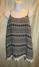EUC Mossimo Supply Co Black & White Geometric Print Cami Camisole Tank Top XL TG - $12.00