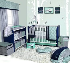 Bacati Noah Tribal 10 Piece Nursery-in-a-Bag Cotton Percale Crib Bedding Set wit
