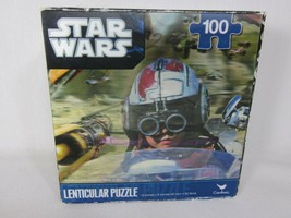 """Star Wars Lenticular Puzzle 100-Piece 12""""x9"""" Air Crafts Sealed holograph... - $4.94"""