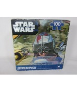 "Star Wars Lenticular Puzzle 100-Piece 12""x9"" Air Crafts Sealed holograph... - $4.94"