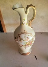 Rare Japan Moriage Ardalt Porcelain Cherub Bud Vase with Gold Gilt - $17.00