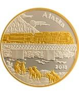 Alaska Mint 2018 Alaska Railroad Medallion Gold & Silver Medallion Proof... - $107.90