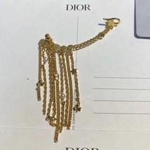 AUTH CHRISTIAN DIOR 2020 DANSEUSE ETOILE PEARL GOLD STAR DANGLE EARRINGS  image 14