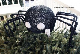 POTTERY BARN BLACK VINE SPIDER DÉCOR (JUMBO) -NIB- SPIN A WEB OF HALLOWE... - $184.95
