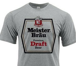 Meister Brau Dri Fit graphic Tshirt moisture wick sun protection apparel SPF tee image 1