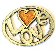LOVE Fine Pewter Pendant Approx. 1-1/2 inches wide image 8