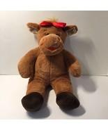 "Moose Holly Red Lip Christmas Plush Stuffed Animal Girl Build a Bear 17"" - $14.50"