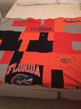 Florida Gators handmade lap quilt made from recycled t shirts - $65.00