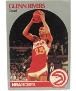 1990 NBA Properties NBA Hoops Atlanta Hawks Guard Glenn Rivers (Set of 2) - $1.53