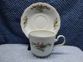 Johann Haviland China traditions Moss Rose tea white cup & saucer 1991-2008 - $15.00