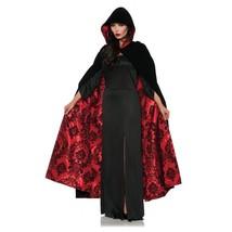 Underwraps Deluxe Velvet & Satin Flocked Cape Red Halloween Costume 28084 - $39.23
