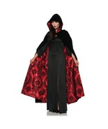 Underwraps Deluxe Velvet & Satin Flocked Cape Red Halloween Costume 28084 - $39.23