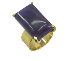 appealing Amethyst Gold Plated Purple Ring jaipur US gift - $9.99