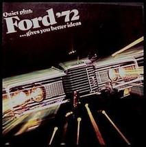 1972 Ford Original Prestige Brochure- Galaxie 500 LTD Brougham 72 MINT - $11.97