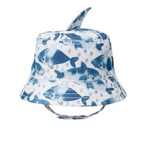 NWT Gymboree True Blue Summer Shark Fin Baby Boy Blue Bucket Sun Hat - $7.99