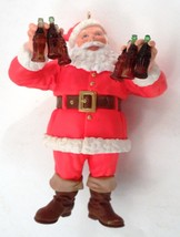 Cute 1995 Coca Cola Santa Claus w/ 6 Bottles Refreshing Gift Christmas O... - $12.82