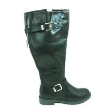 Shoedazzle Womens Georginna Riding Boots Black Buckle Knee High Zipper 10 - $59.39