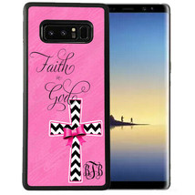 Personalized Rubber Case fits Samsung S10+ S10 S9+ S9 S8+ S8 S7  Faith G... - $13.94