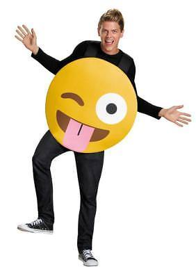 Emoticon Emoji Tongue Out Costume Yellow Adult Halloween Unique Funny DG85324
