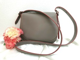 Coach Saddle Bag 9170, in Glovetanned Leather Fog/Grey - Style 37875  - EUC - $173.24