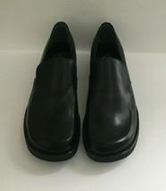 Franco Sarto BOCCO Flex Glossy Black Leather Slip On Loafers Shoes Sz 6.5 W - $19.79