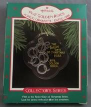 Hallmark Twelve Days of Christmas 1988 #5 in Series with Box Five Golden... - $12.50