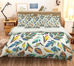 3D Painted Leaf 0126 Bed Pillowcases Quilt Duvet Single Queen King US Summer - $102.84+