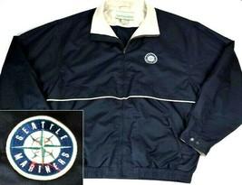 Cutter & Buck Mens Seattle Mariners Windbreaker Jacket Large Full Zip Li... - $29.10