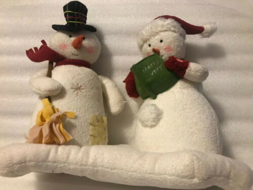 Primary image for 2003 Hallmark Christmas Jingle Pals Snowman Carolers Plush Musical Singing