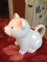 White Porcelain Ceramic Teddy Bear Panda Bear Water Pitcher Planter Grav... - $34.99