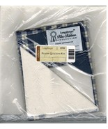 Longaberger Blue Ribbon Plaid Pillow Quilting Kit New in bag - $14.70