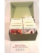 VINTAGE BETTY CROCKER RECIPE LIBRARY BOX 1970'S ERA GREEN - $14.95