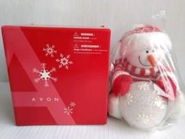 "AVON Snowman A Snowy Glow Light Up Snowball Christmas Decor 10"" Open Box - $49.99"