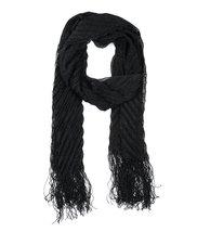 Modadorn Metallic Ribbed long rap, shawl Scarf Black Women's fashion, cl... - $12.86