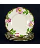 Franciscan Desert Rose Bread Plates 4, Vintage c1960 Gladding McBean USA... - $17.15