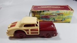 8 Vintage Glass Decanter 48 Chrysler Car  Maroon & Yellow - $15.83