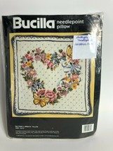 Bucilla Needlepoint Kit Floral Wreath Picture Pillow 4635 Persian 14 x 1... - $59.39