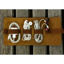 Rolling Leather Cable Organizer - £19.03 GBP