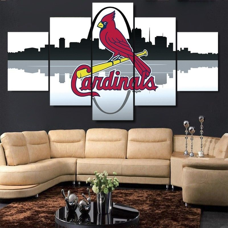 Large Framed St. Louis Cardinals Canvas Print Home Decor