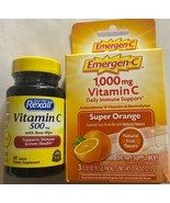 Emergen-C 1000mg Vitamin C Supplement 3 Packets & 60ct 500mg Vit C / Ros... - $19.79
